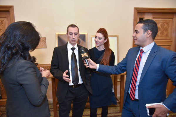 Interview at the vernissage, Alexandria