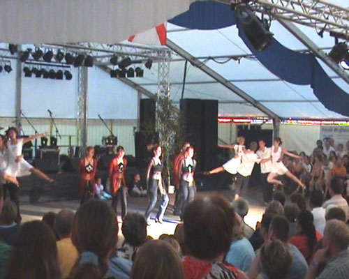 Das Highlight: Paare und irish Step mit Lord of the dance