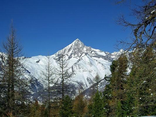 Bietschhorn im Winter auf 3934 m ü.  M.