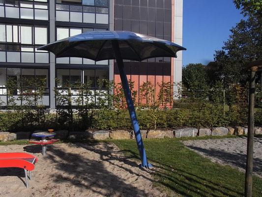 schräger Schirm klein komplett in Stahl
