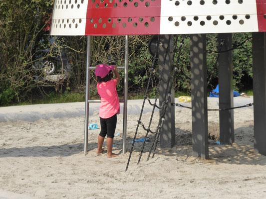 Einstieg über Leitern, Netze in die Rakete
