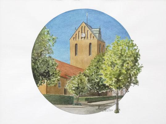 Mats Müller, Höganäs kyrka, 40x30cm