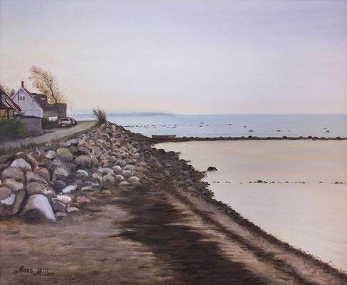 MatsMüller, Lerberget i morgonljus, 60x50cm