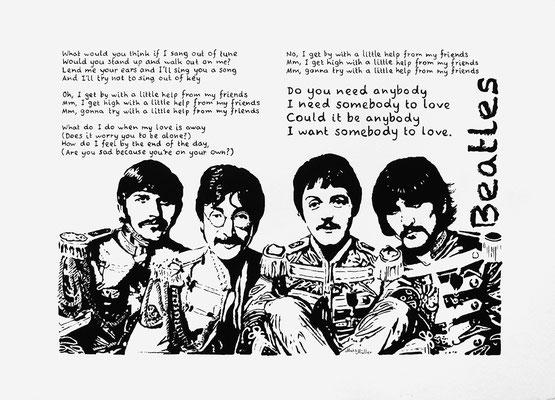 Mats Müller, Beatles, 35x25cm