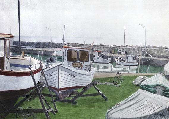 Mats Müller, Lerbergets hamn, 57x40cm