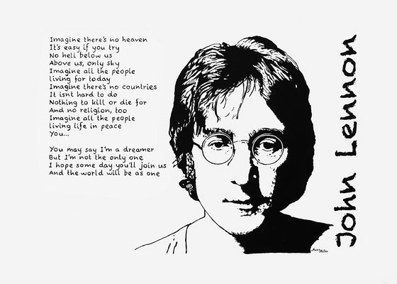 Mats Müller, John Lennon, 35x25cm