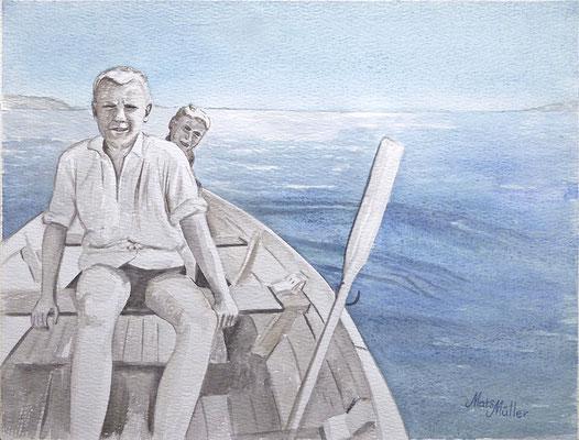 Mats Müller, I ekan, 40x30cm