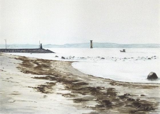 Mats Müller, Lerbergets strand, 40x30cm