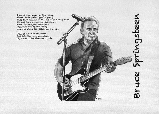 Mats Müller, Bruce Springsteen, 35x25cm