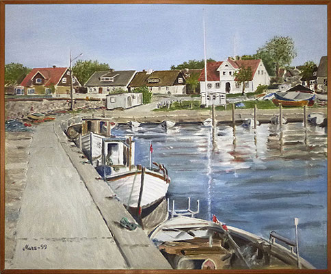 MatsMüller, Lerbergets hamn, 65x54cm