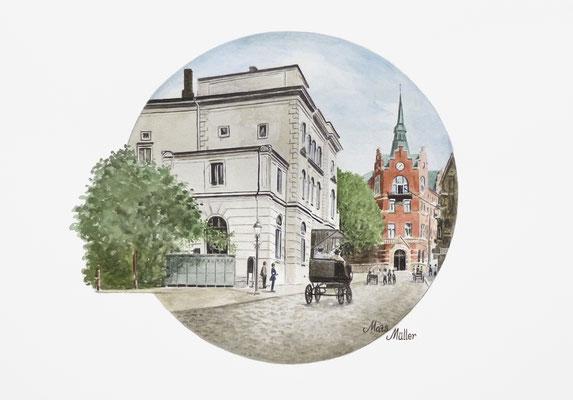 Mats Müller, Gamla teatern i Helsingborg, 40x30cm