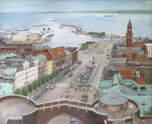 MatsMüller, Helsingborg stortorget, 100x82cm