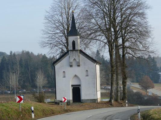 Die Kapelle am Ende der Wanderung.