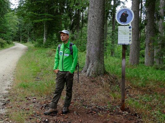 Am Eingang zum Auerwildschutzgebiet