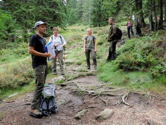 An vielen Stationen gab es Erklärungen zur natürlichen Entwicklung des Gebietes