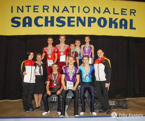 Sportler Riesa Internationaler Sachsenpokal Sportakrobatik Riesa 2018