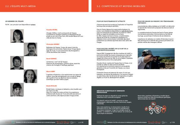 dossier d'offre - graphisme, mise en page - collaboration avec Dans le Champ et Pascaline Morel