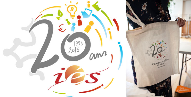 Création d'un logo original pour les 20 ans d'IéS - ies.coop