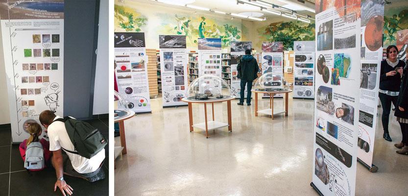 """exposition itinérante """"Impact"""" autour du sujet des cratères d'impact et des météorites - Vigie-Ciel"""
