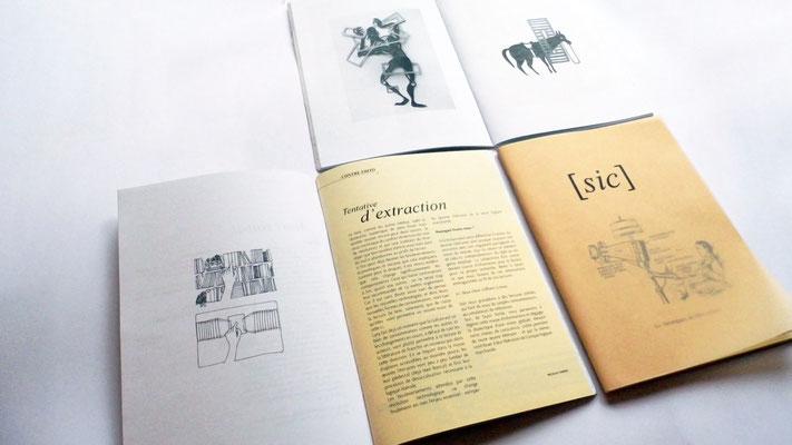 revue Sic#1, maquette, illustrations - collaboration avec Lucie van der Elst