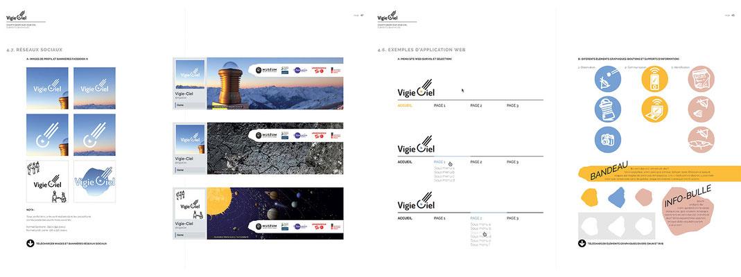 Charte graphique pour association de découverte et médiation autour des météorites et des cratères d'impact (extraits)