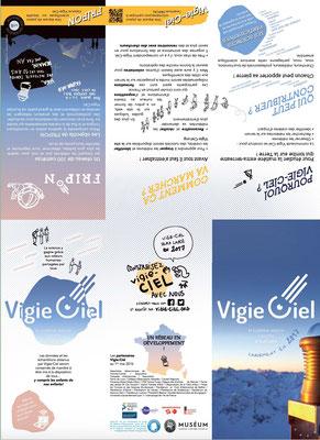 recto du dépliant de présentation de l'association Vigie-Ciel