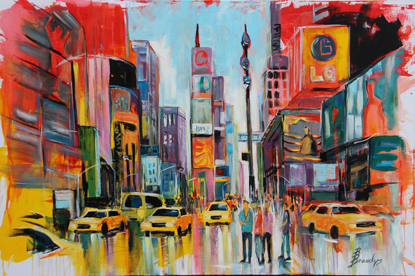 New York, Times Square 150x100 Acryl