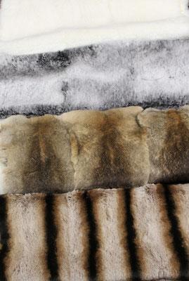 Bandine di lapin  leprato, cincilla o bianco naturale epilate