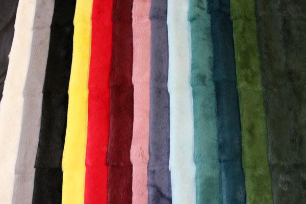 Bandine (pannelli o teli) di lapin naturale e tinto di diversi colori