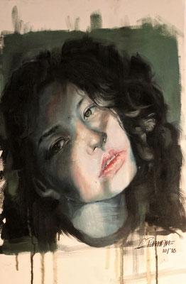 """""""Mädchen im Schatten"""", 40x60, Öl auf Leinwand, Preis auf Nachfrage"""