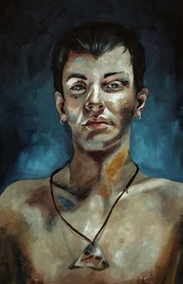 """David"" (2017), 40x60, Öl auf Leinwand"