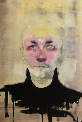 """Lukas"" (2019), 60x80, Öl & Acryl auf Leinwand, Preis auf Nachfrage"