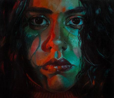 """Charli"" (2020) 70x80, Öl auf Leinwand, Preis auf Nachfrage"