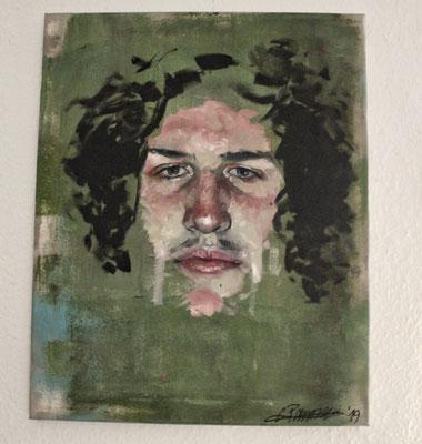 """Enzo"" (2019), 40x50, Öl und Acryl auf Leinwand"