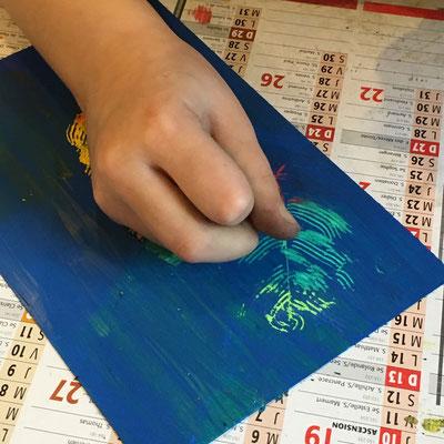 atelier fabriquer une carte à gratter, atelier idéephémère, 64260 Bielle