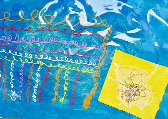 compilation de travaux sur le thème du gribouillage, atelier idéephémère, 64260 Bielle