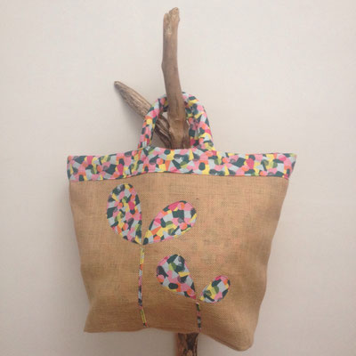 petit sacàtou, création textile Marie Donnot, atelier idéEphémère, 64260 Bielle