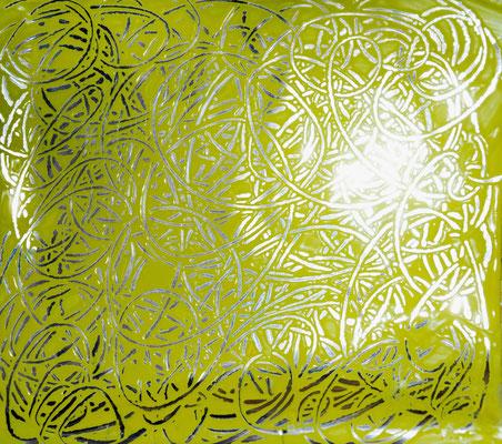 arabesques sur papier argenté, traces dans la matière, atelier idéephémère, 64260 Bielle