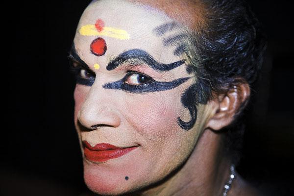 Kathakali Tänzer Kerala Indien