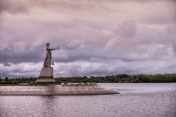 Statue Mutter Wolga, Wolga - Ostsee Wasserstraße