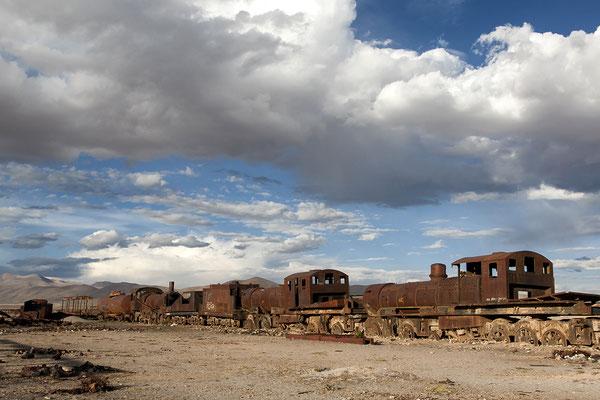Cementerio de (los) Trenes bei Uyuni in Bolivien