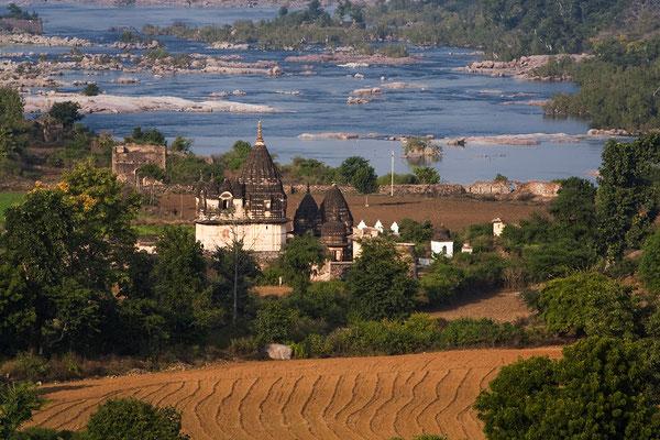 Landscahft bei Orchha Indien