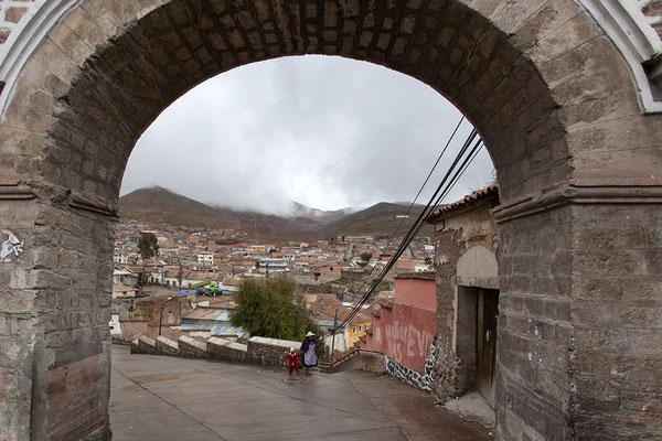 Blick auf Potosi in Bolivien