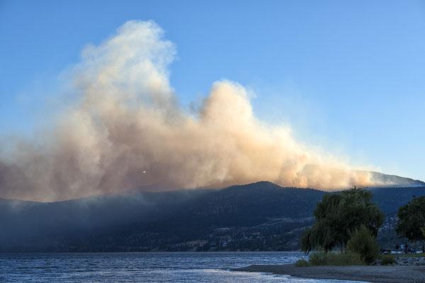 Waldbrand in Peachland Kanada