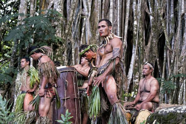 Marquesanische Tänzer auf Nuku Hiva, Marquesas, Französich Polynesien