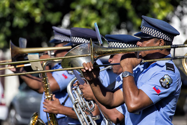 """Samoa Police Band"" in Apia"