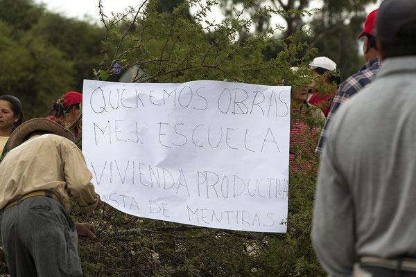 Streikende hinter Tarija