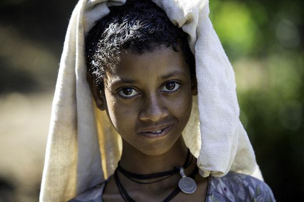 Amharen Mädchen Äthiopien