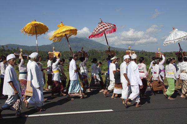 Zeremonie auf Bali, Indonesien