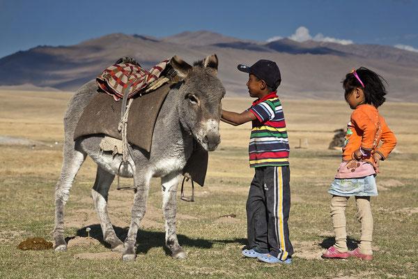 Halbnomadan am Son Köl See Kirgisistan